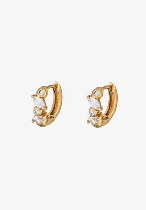 NAVETTE HUGGIE HOOPS - Earrings - pale gold-coloured