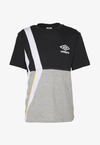 Umbro - BOXED DIAMOND CUT TEE - Print T-shirt - black/grey marl - 3
