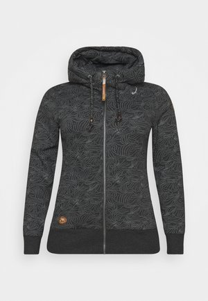 YODA ZIP ORGANIC - Zip-up hoodie - black