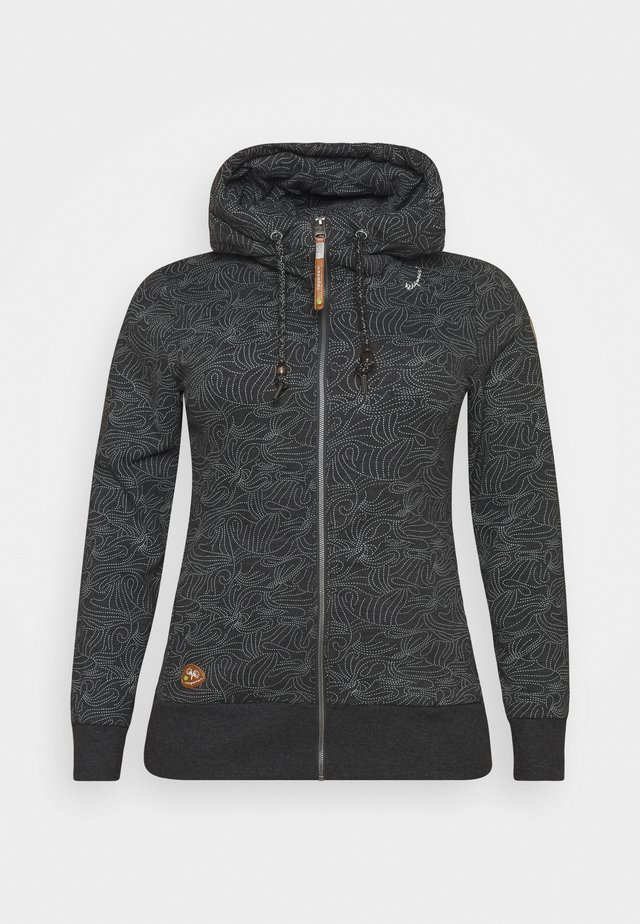 YODA ZIP ORGANIC - veste en sweat zippée - black