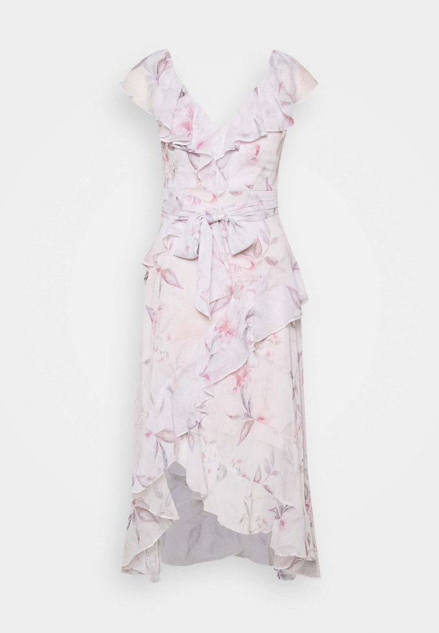 STEPHANIE RUFFLE MIDI DRESS - Vestido informal - light pink