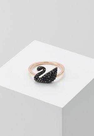ICONIC SWAN - Anello - rosegold-coloured/black