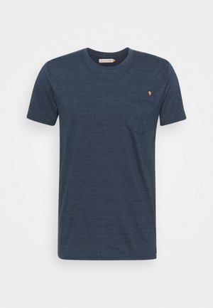 REGULAR - Print T-shirt - navy-mel