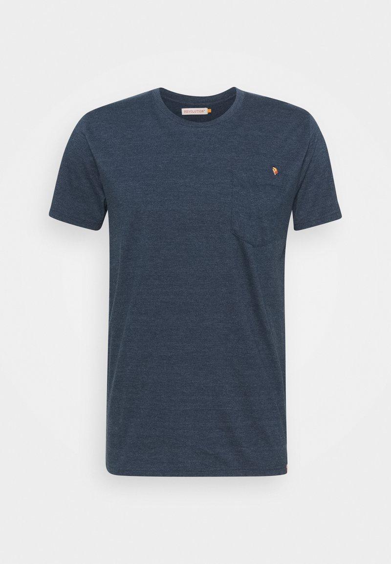 REVOLUTION - REGULAR - Print T-shirt - navy-mel