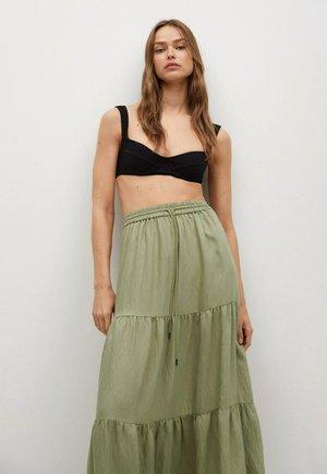 BAMBU - Maxi skirt - khaki