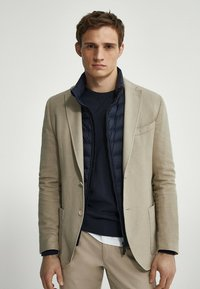 Massimo Dutti - SLIM FIT - Blazer jacket - beige - 0