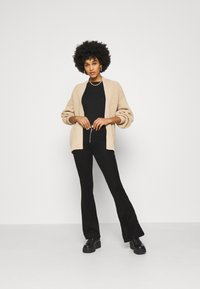 New Look - STITCHY BALLOON SLEEVE CARDIGAN - Cardigan - camel - 1