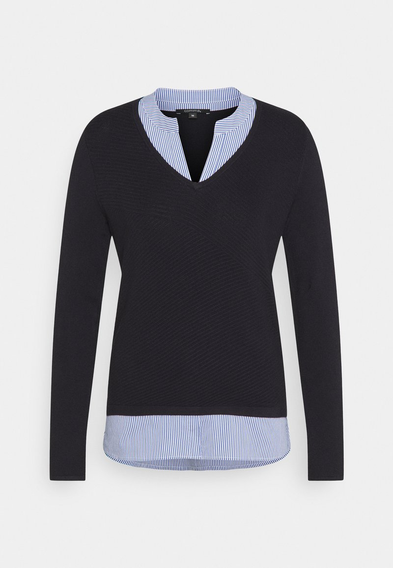 comma - LANGARM - Jumper - navy