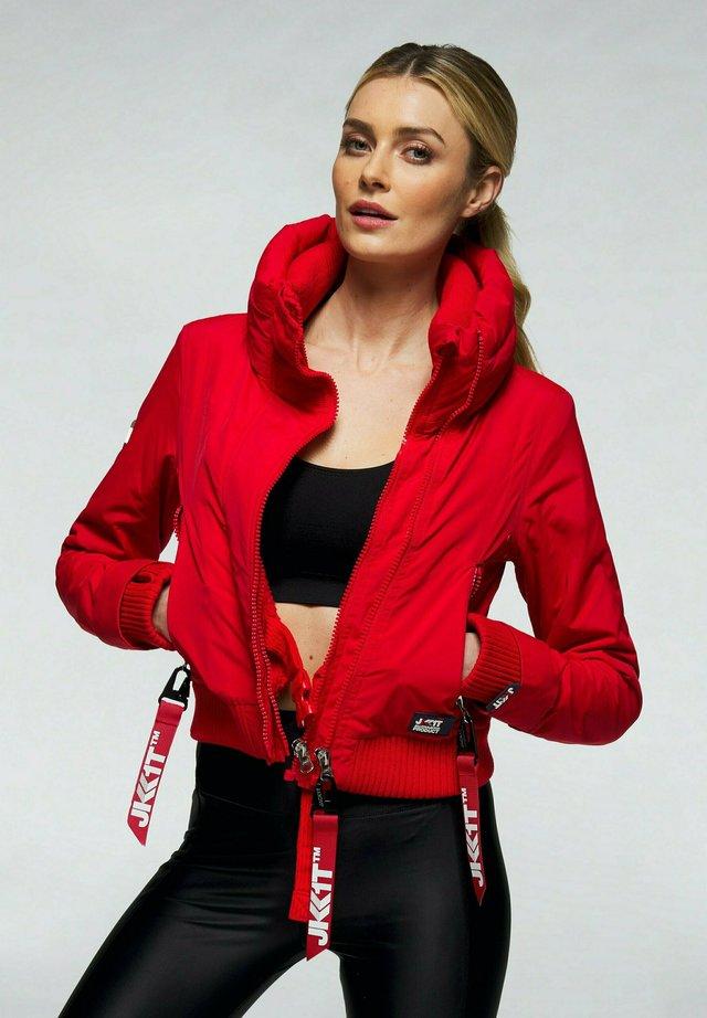 Gewatteerde jas - red