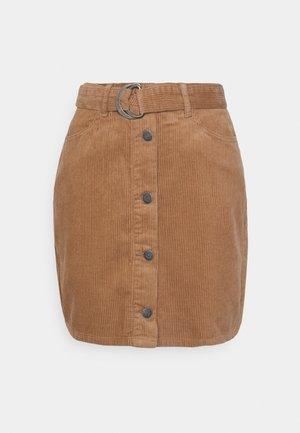 OBJOLIVIA CORDUROY SKIRT  - Mini skirt - chipmunk
