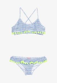 Sunuva - GIRLS POMPOM FRILL - Bikini - blue/white - 3