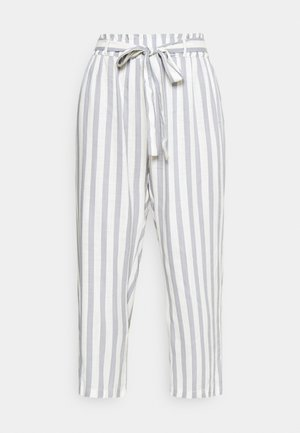 ONLASTRID CULOTTE PANTS  - Trousers - cloud dancer/silver conce