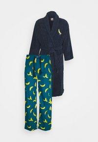 Lousy Livin Underwear - BATHROBE PYJAMA PANTS BANANAS SET - Župan - blue - 9