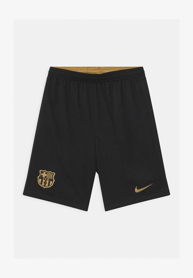 FC BARCELONA UNISEX - Sportovní kraťasy - black/metallic gold