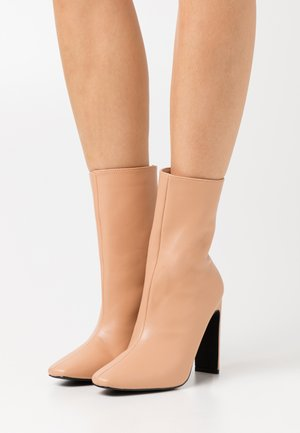 ALEENA - High heeled ankle boots - nude