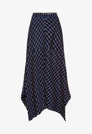 A-line skirt - true blue check