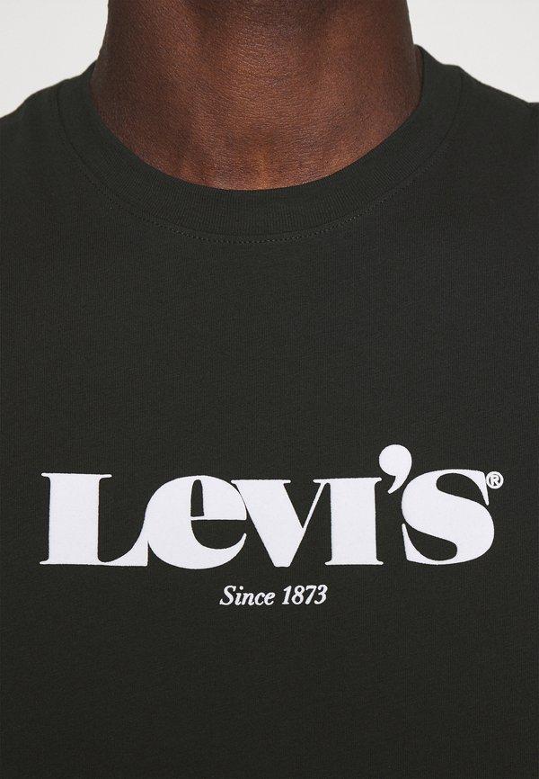 Levi's® RELAXED FIT TEE UNISEX - T-shirt z nadrukiem - blacks/czarny Odzież Męska MQGL