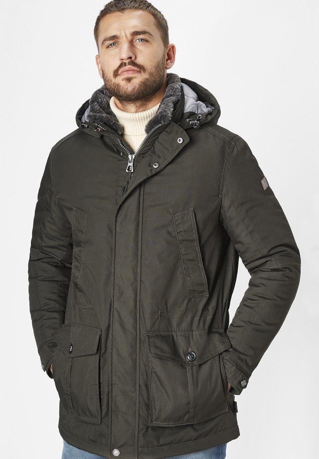 Winter coat - dk. olive