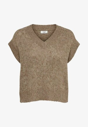 Print T-shirt - taupe gray