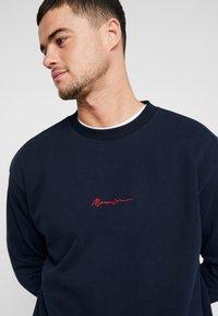 Mennace - CONTRAST SIGNATURE - Sweatshirt - navy - 3