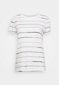 ORGANIC DAILY STRIPED TEE - Print T-shirt - aspen white