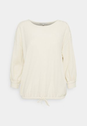 Long sleeved top - soft creme beige