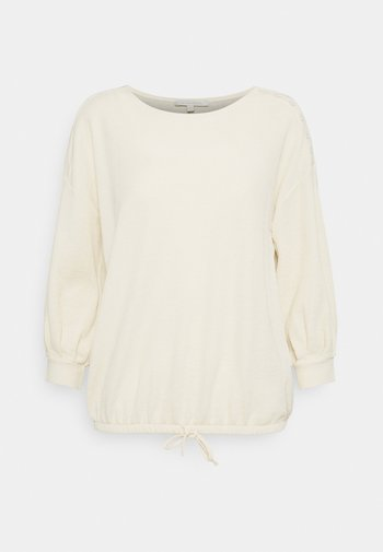 Long sleeved top - soft creme beige
