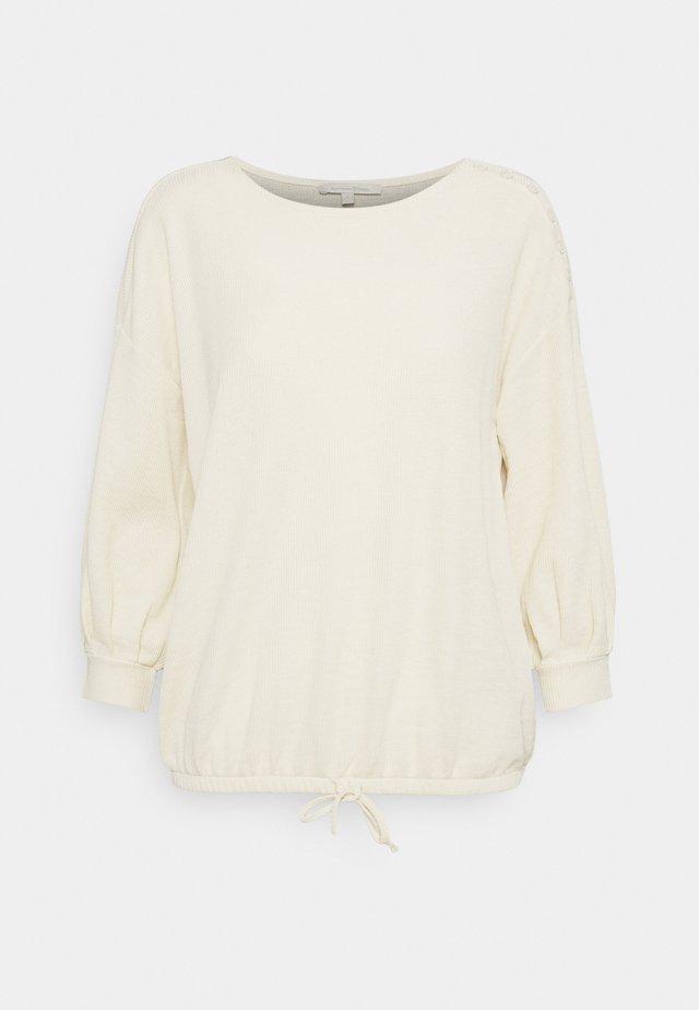 Top sdlouhým rukávem - soft creme beige