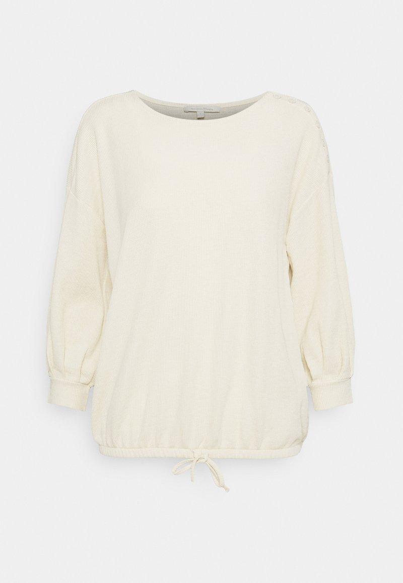 TOM TAILOR DENIM - Long sleeved top - soft creme beige