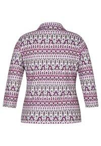 Rabe 1920 - MIT KRAGEN UND GLITZER-DETAILS - Long sleeved top - pink - 1