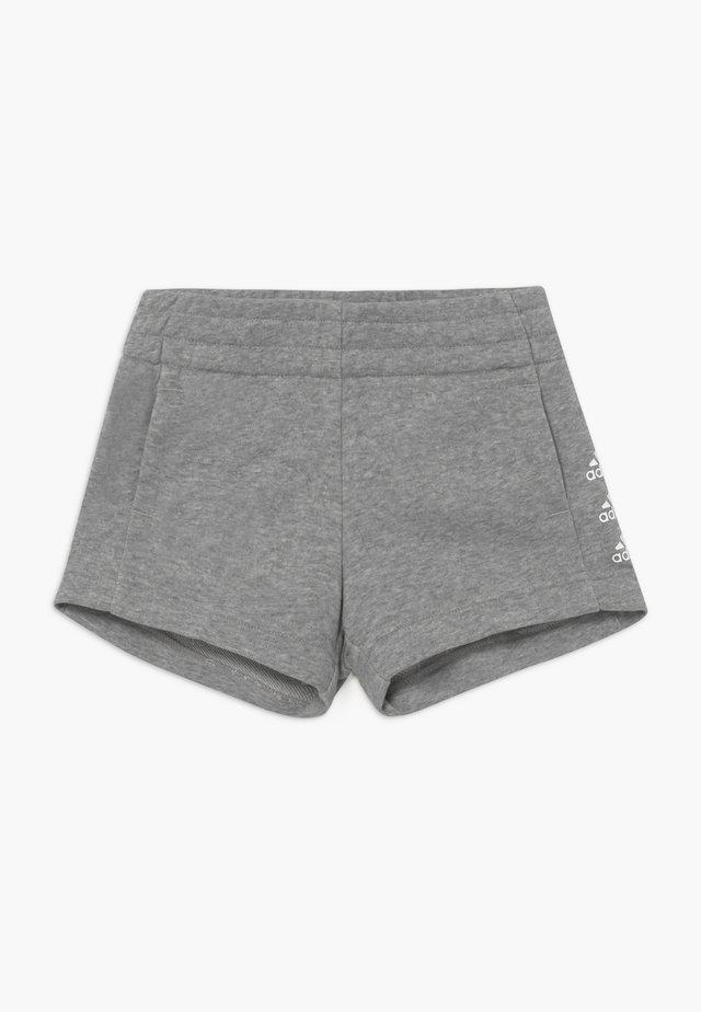 SHORT - Sports shorts - medium grey heather/white
