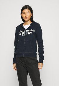 Abercrombie & Fitch - LONG LIFE FULL ZIP - Hettejakke - navy - 0