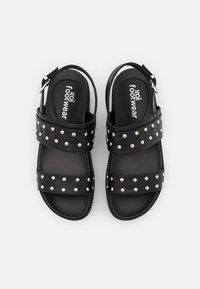 Koi Footwear - VEGAN SOLITUDE STUDDED STRAP CHUNKY SLIDERS - Platåsandaler - black - 5