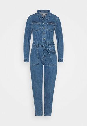BOILER BUTTON THROUGH JUMPSUIT - Jumpsuit - blue