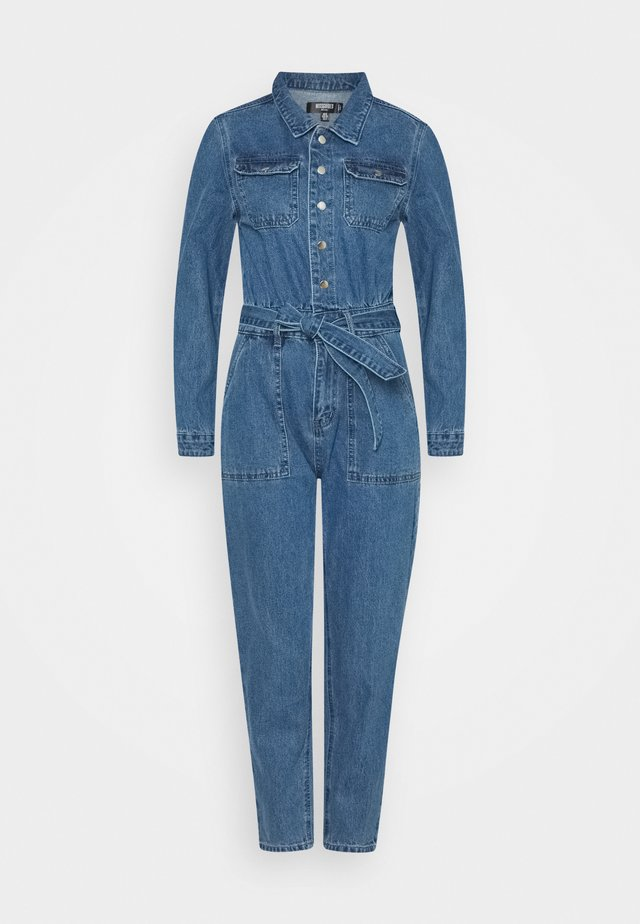 BOILER BUTTON THROUGH JUMPSUIT - Kombinezon - blue