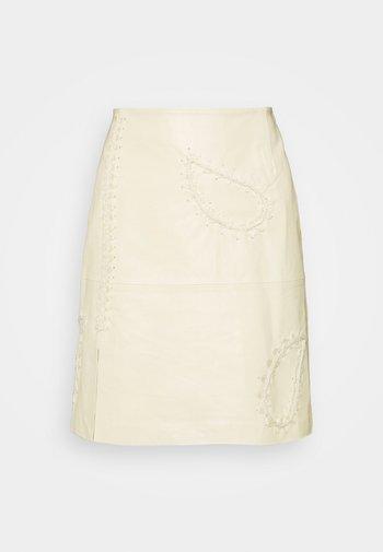 BELLE PAISLEY SKIRT - Minijupe - light yellow