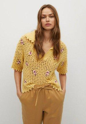 Strickpullover - amarillo pastel