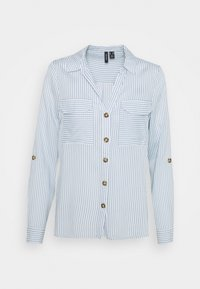 Vero Moda Petite - VMBUMPY  - Button-down blouse - snow white/blue fog - 0