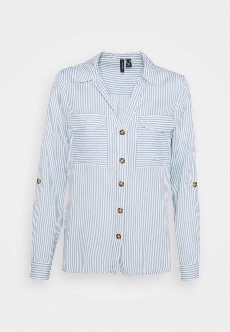 Vero Moda Petite - VMBUMPY  - Button-down blouse - snow white/blue fog