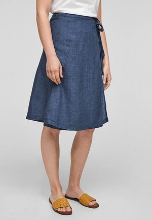 A-line skirt - faded blue melange