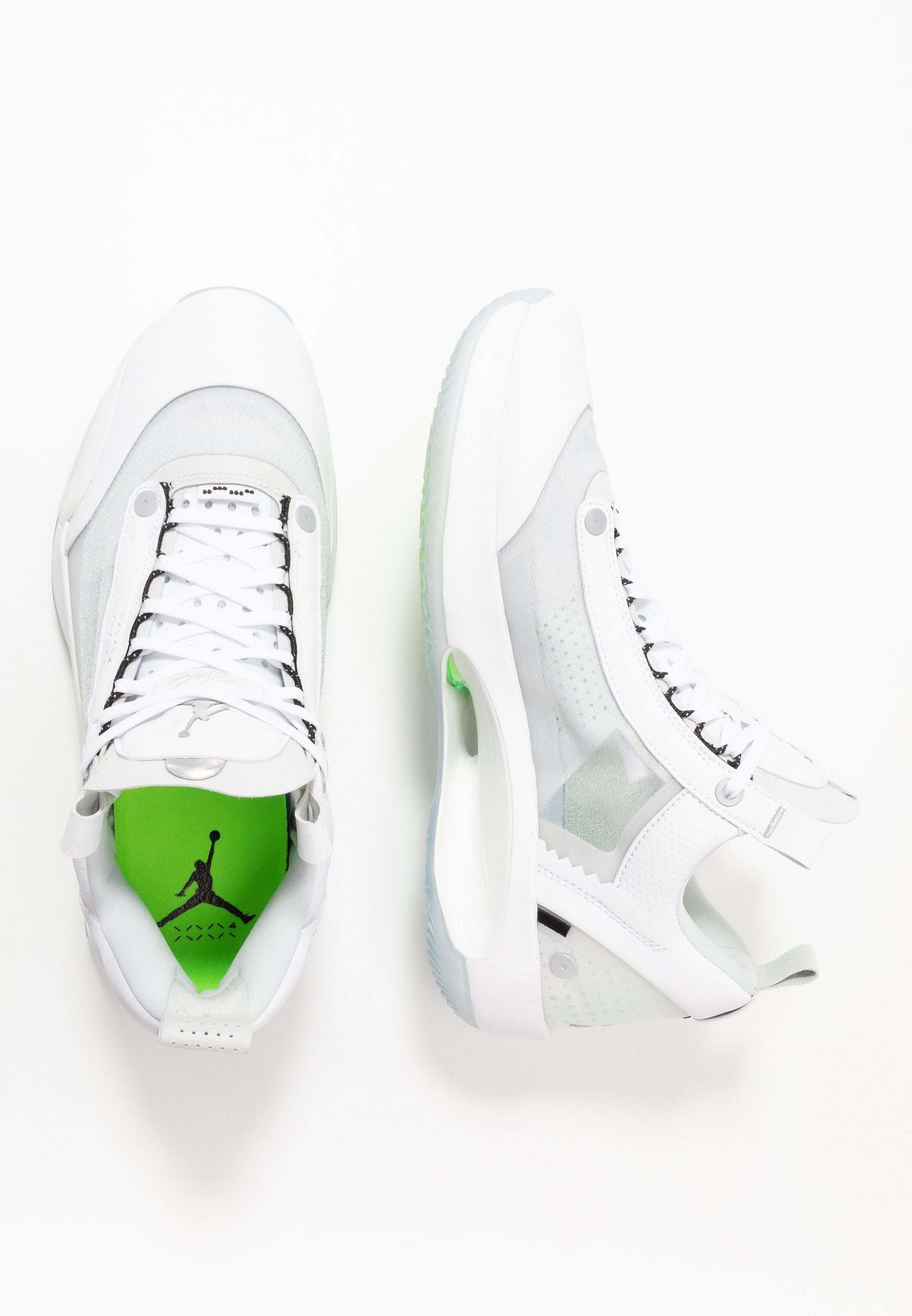 AIR XXXIV LOW Indoorskor whitemetallic silverpure platinumelectric green