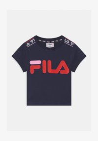 Fila - LENA TAPED - Camiseta estampada - black iris - 0