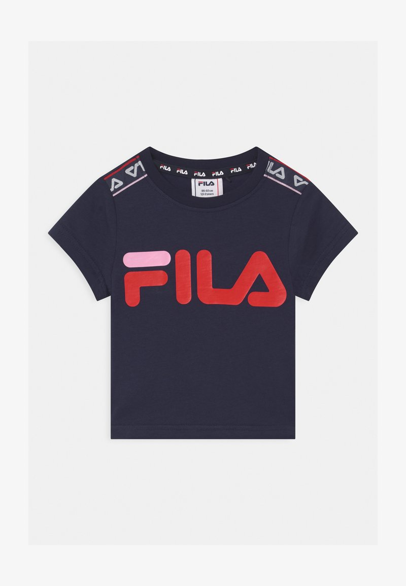 Fila - LENA TAPED - Camiseta estampada - black iris