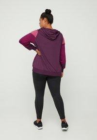 Active by Zizzi - AMONA - Zip-up hoodie - purple - 2