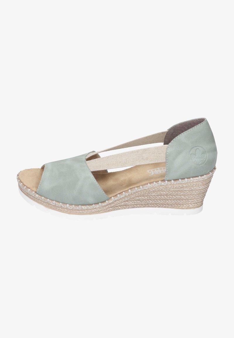 Rieker - Wedge sandals - mint