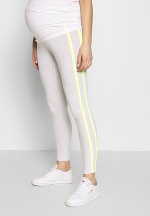 WITH CONTRAST STRAPS - Leggings - light grey