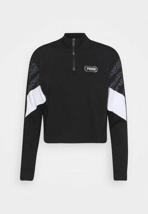 REBEL ZIP CREW - Sweatshirt - black/untamed
