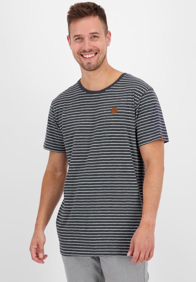 NICAK  - T-shirt imprimé - marine