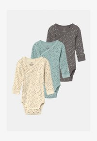 Lindex - ALL OVERPRINTED 3 PACK UNISEX - Body - light beige/dark dusty green/light dusty aqua - 0