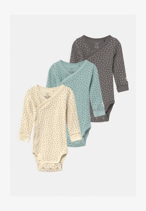 ALL OVERPRINTED 3 PACK UNISEX - Body - light beige/dark dusty green/light dusty aqua